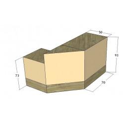 8522 - Comptoir En Angle Complet Stratifie