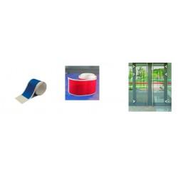 bande de signalisation de couleur pour surfaces vitrées