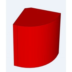 7945 - comptoir d'angle arrondi